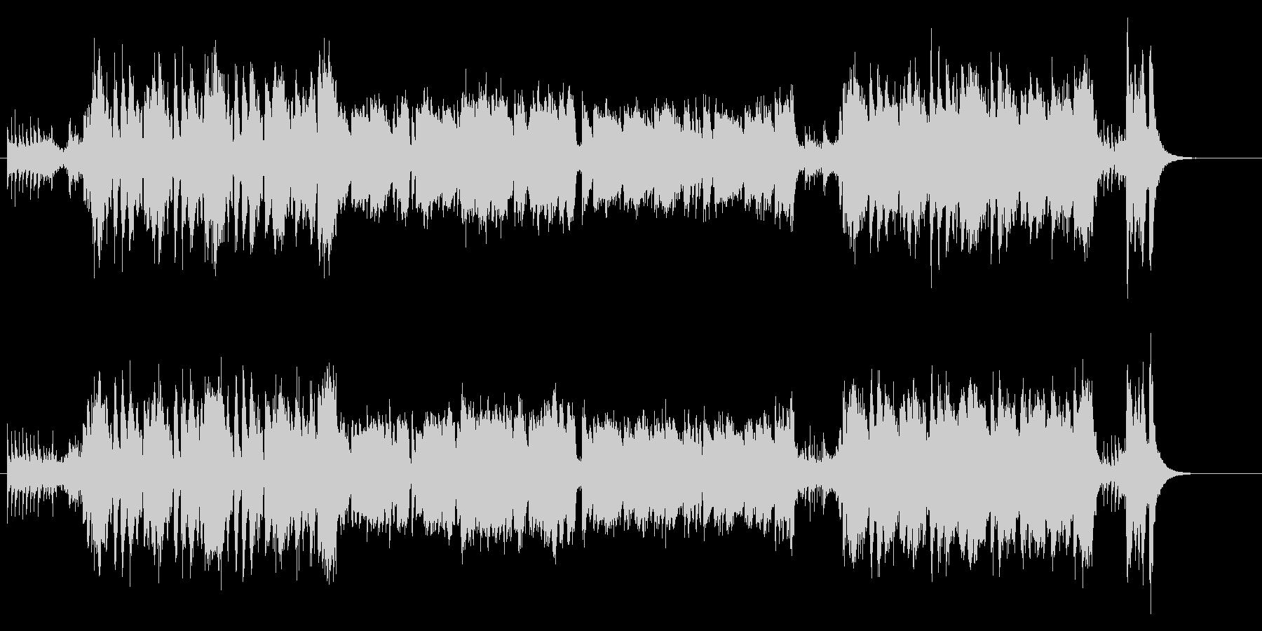 コミカルホラーなBGMの未再生の波形
