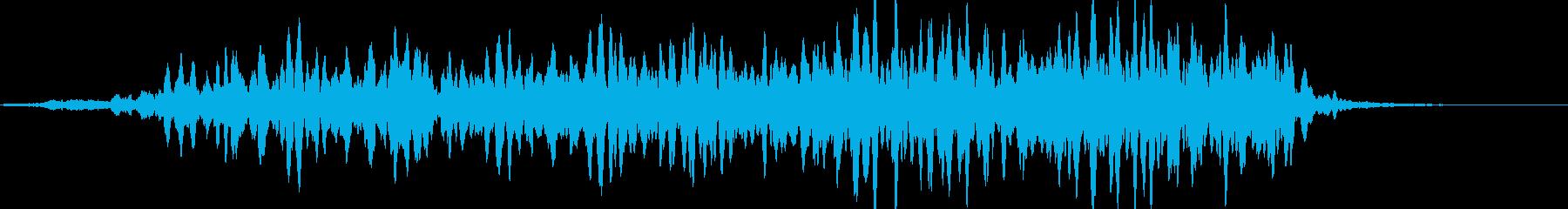 加速イメージモーター音(エレベーター風)の再生済みの波形