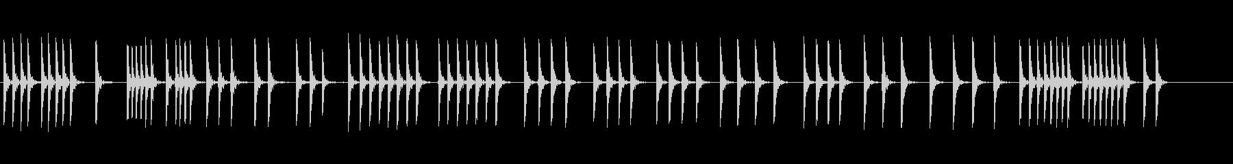 木の板のハンマー1の未再生の波形