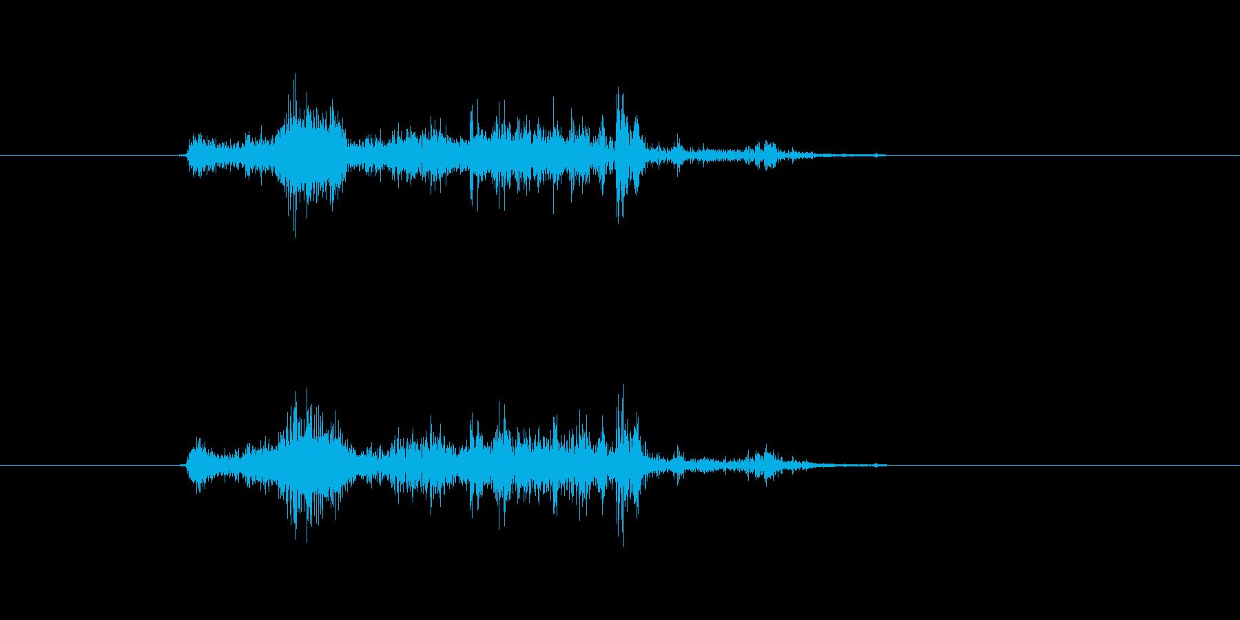 ガサッ(紙袋、探す、短め)の再生済みの波形