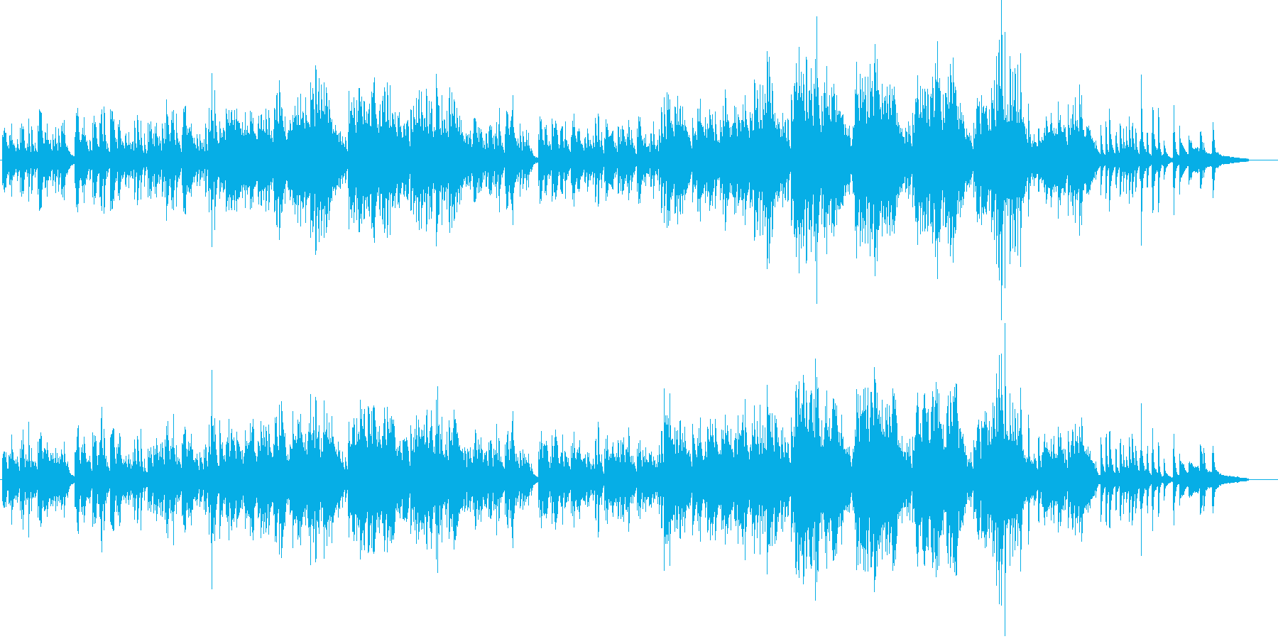 切ないピアノバラード「祈り」の再生済みの波形