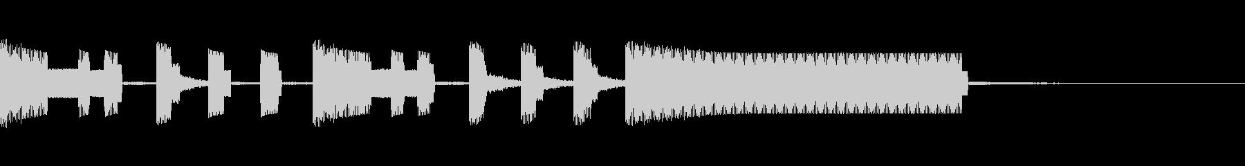 ファミコン風サウンドロゴの未再生の波形