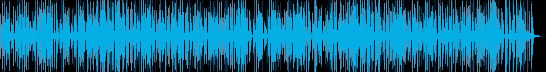 ほのぼのとしたリズムのピアノ楽曲の再生済みの波形