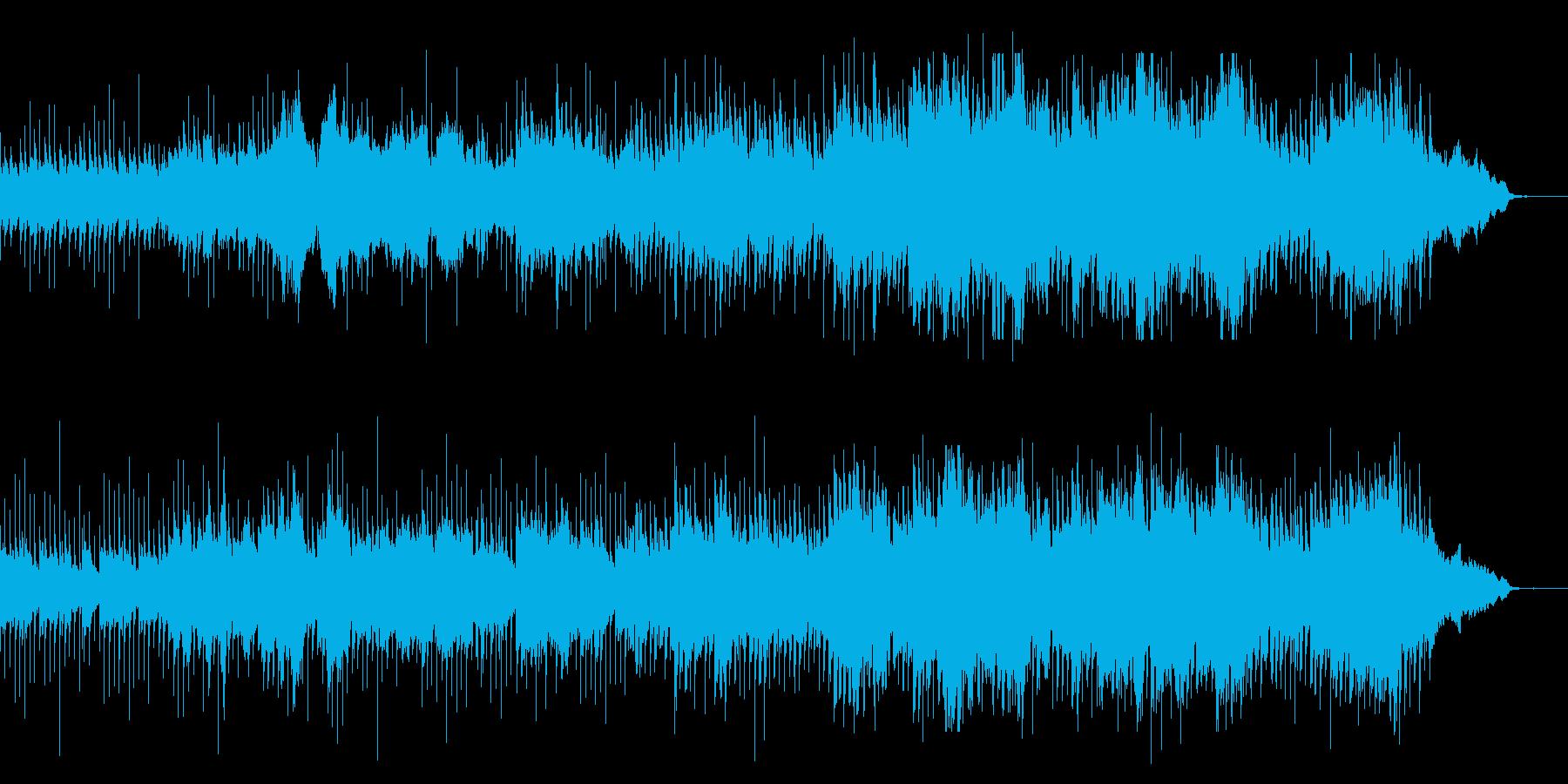 堅い決意をもって前に進むイメージの曲の再生済みの波形