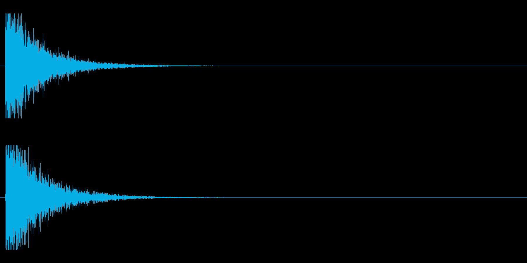 レーザー音-143-1の再生済みの波形