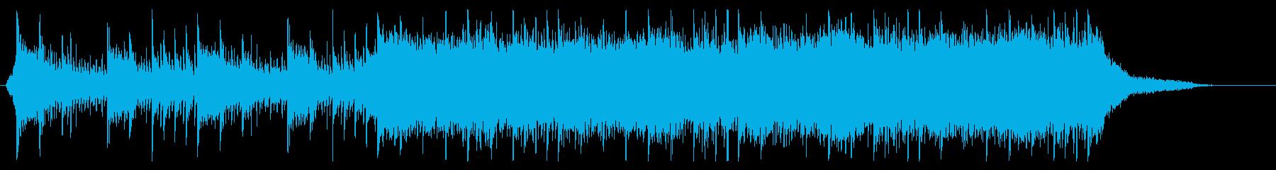 壮大でシリアスな迫力あるトレーラーBGMの再生済みの波形