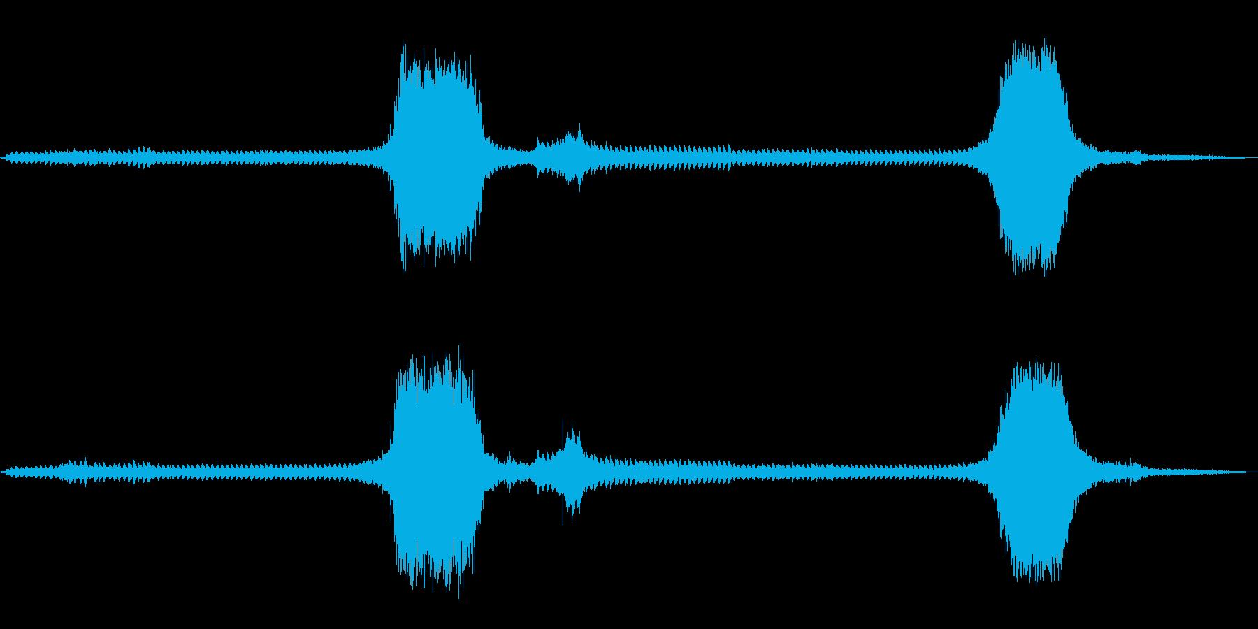 【環境音】踏切の音の再生済みの波形