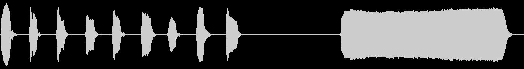 明るい ソプラノリコーダー ソロの未再生の波形