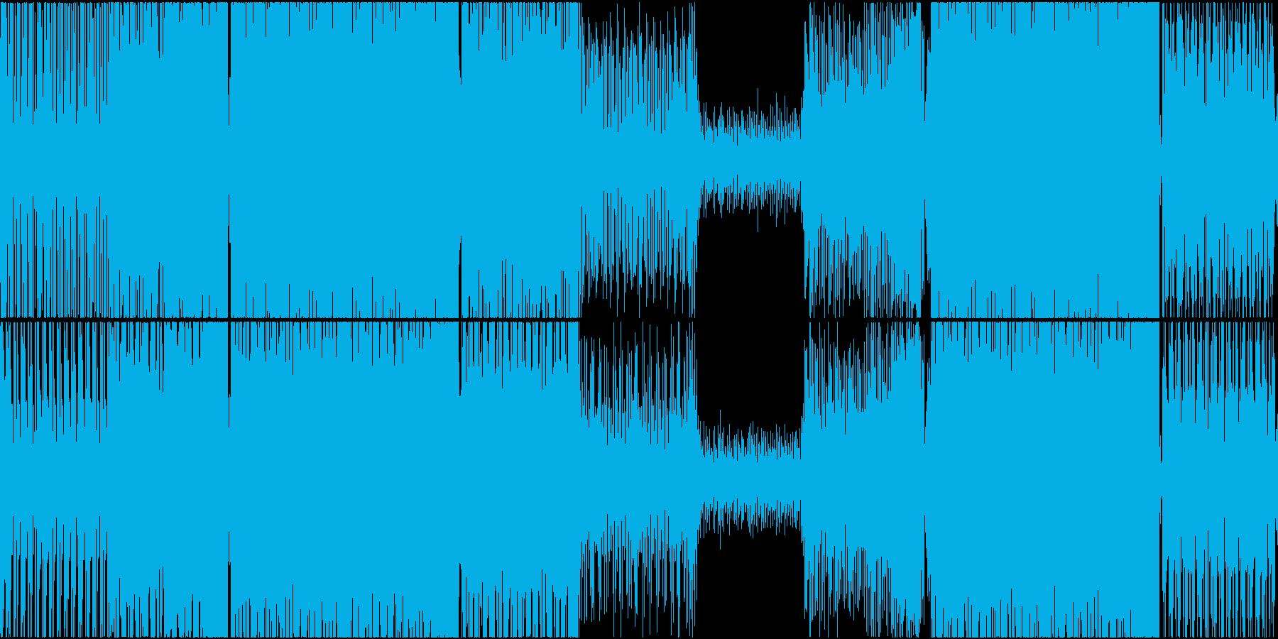テクノ ハード スピード感 トランスの再生済みの波形