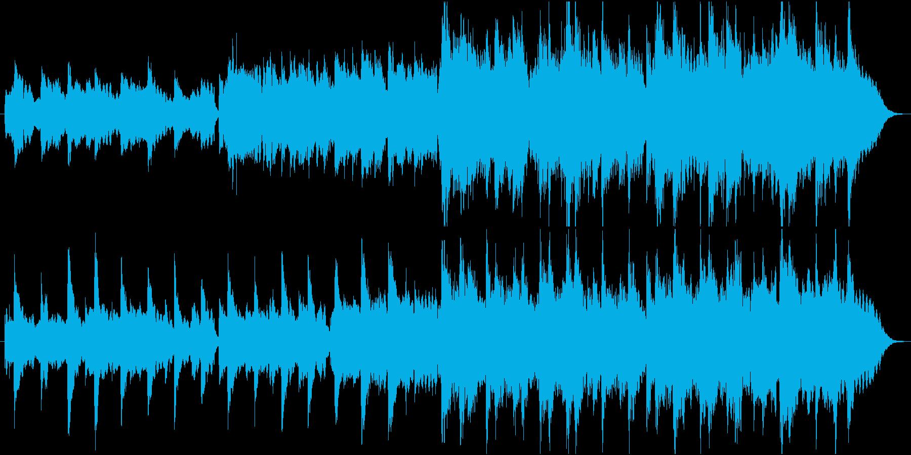 感動のシーンに、バラードの再生済みの波形