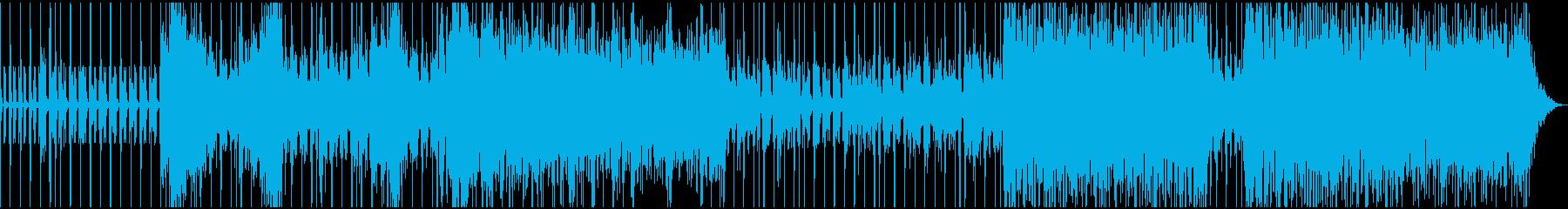 宇宙的なアンビエントテクノEDMの再生済みの波形