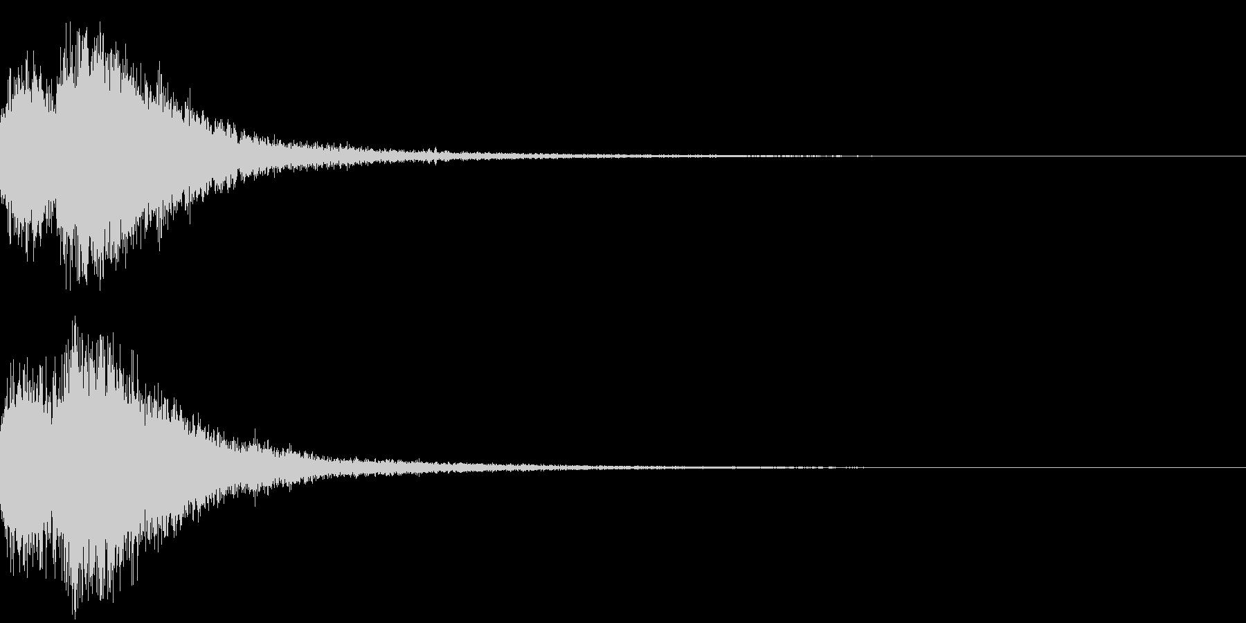 オーケストラヒット ジングル! 02+の未再生の波形