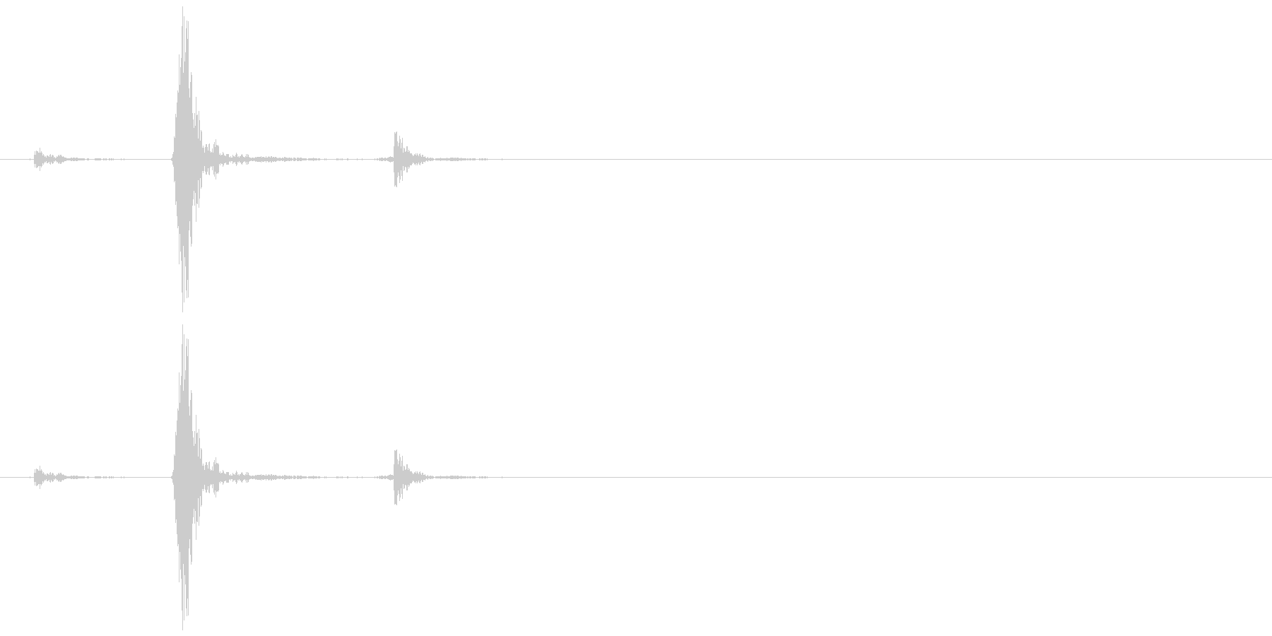 カセットデッキ_ボタン(止める)の未再生の波形