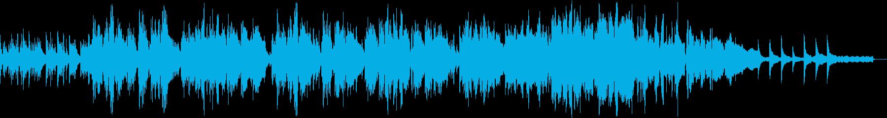 優しいクラリネットとピアノの癒やし曲の再生済みの波形