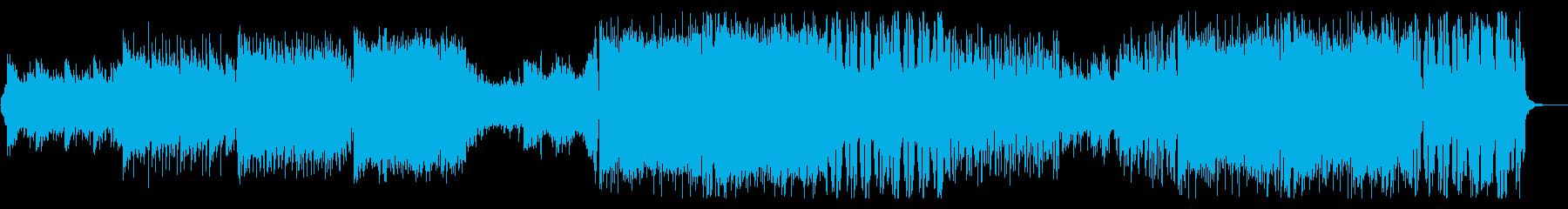 映像などで使える、癒し系トロピカルハウスの再生済みの波形