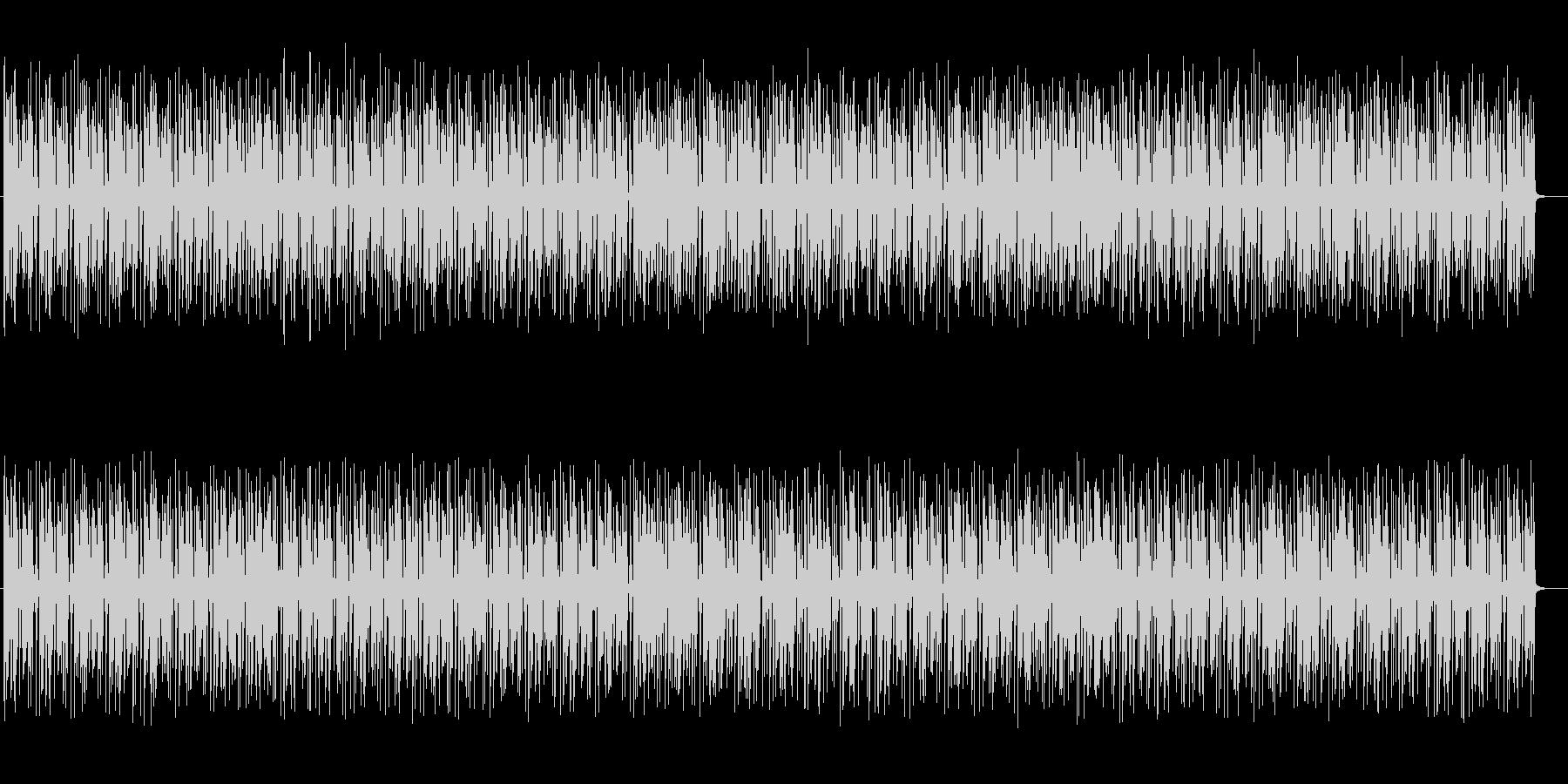 楽しげでコミカルなシンセサイザーサウンドの未再生の波形