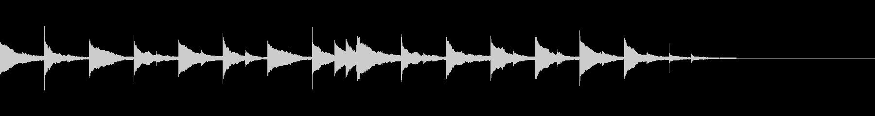 怖い話・怪談系ホラージングル2の未再生の波形