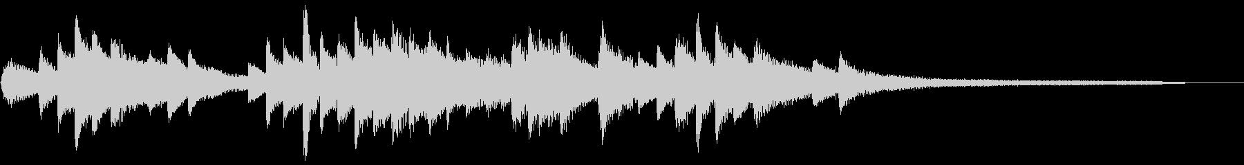 和風のジングル1-ピアノソロ(高音強調)の未再生の波形