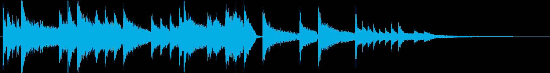 動画やゲーム向け!切ないピアノのジングルの再生済みの波形
