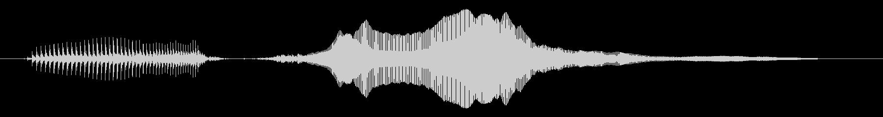 アチョーの未再生の波形