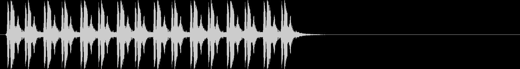 ピヨピヨピヨピヨ×2(混乱状態)の未再生の波形