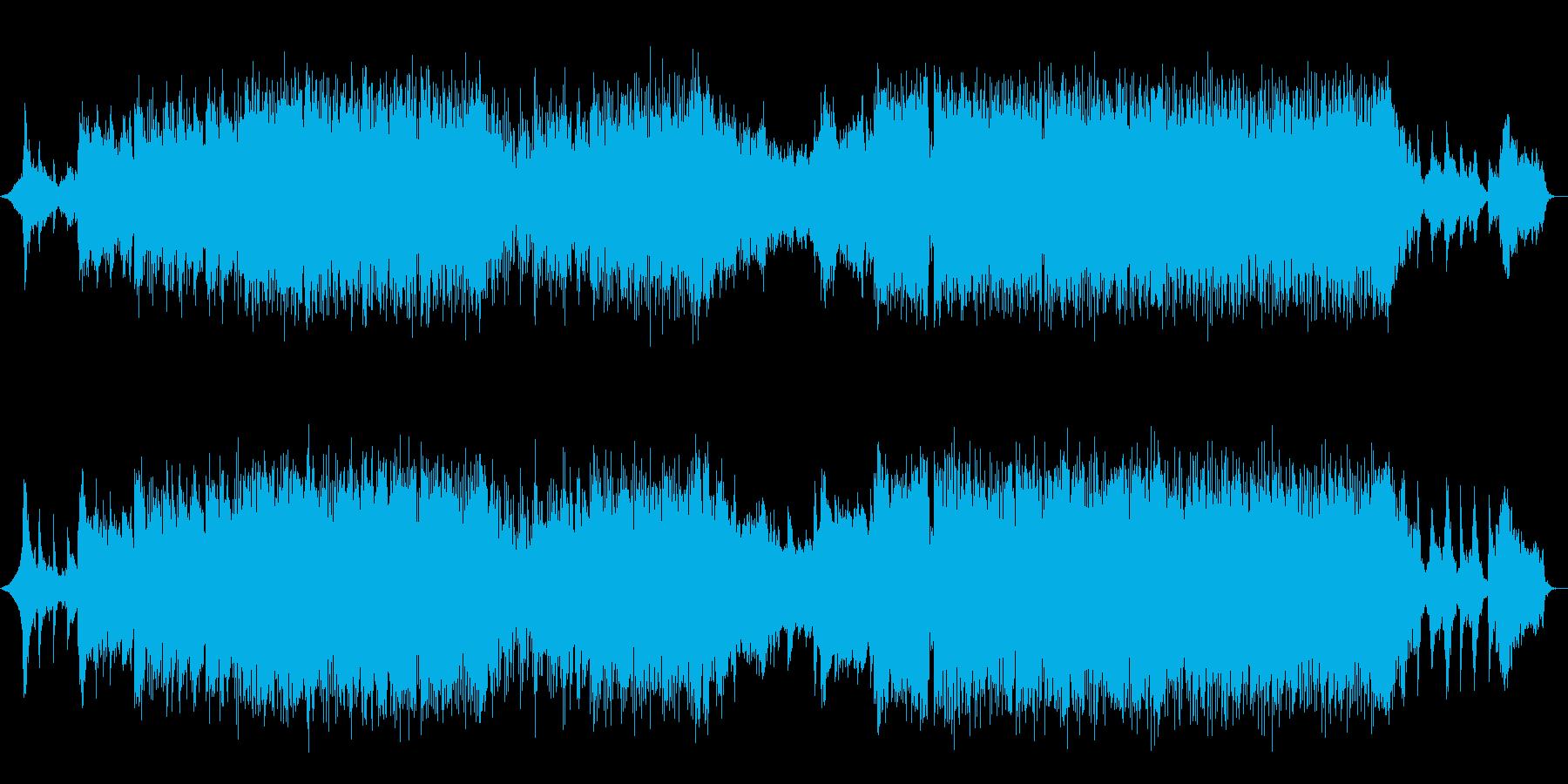 未来的で躍動感がある和風曲 篠笛生演奏の再生済みの波形