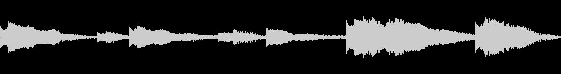 幻想的なハープの音ですの未再生の波形
