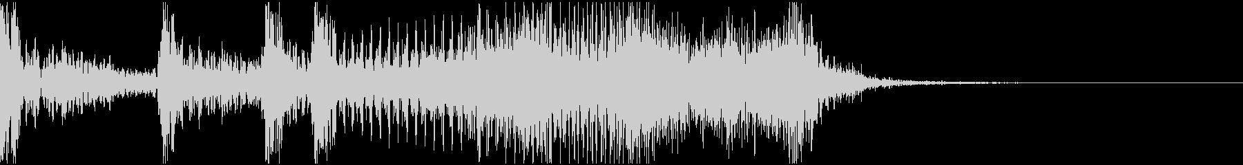 サウンドロゴ 2秒 企業 機械 科学 の未再生の波形