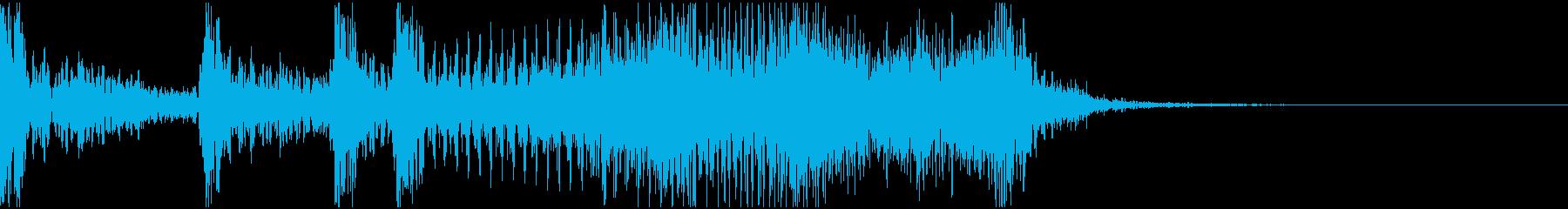 サウンドロゴ 2秒 企業 機械 科学 の再生済みの波形