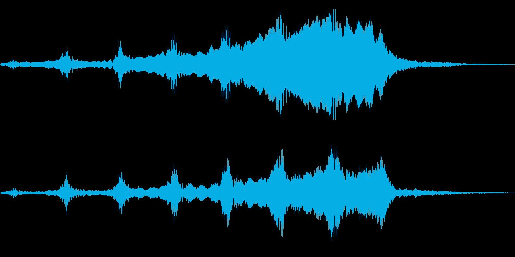 宇宙系(徐々に大きく)の再生済みの波形
