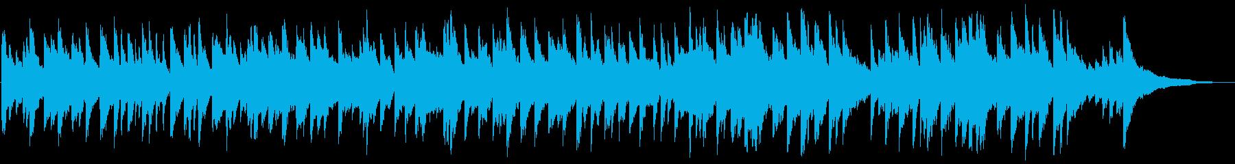 優しく温かい感動のピアノ曲の再生済みの波形