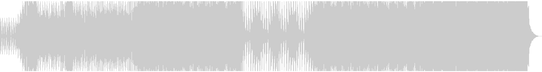 ポップで軽快なEDMの未再生の波形