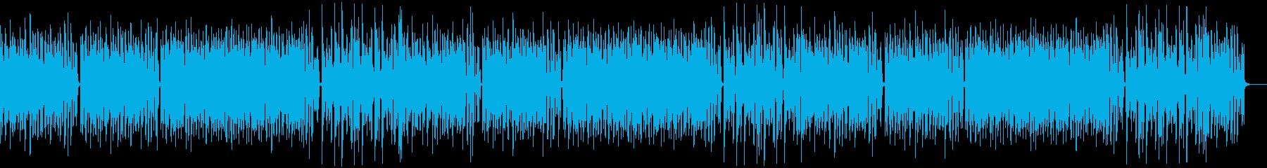 コミカル/静かめカラオケの再生済みの波形