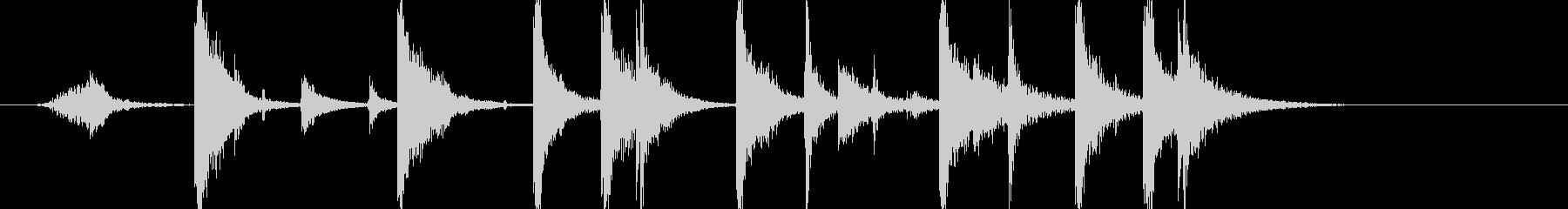 和風 ロックフレーズな三味線の未再生の波形