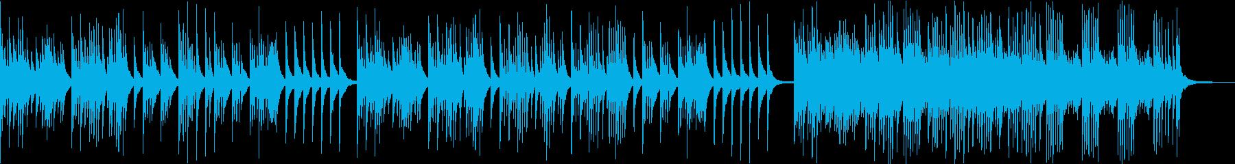 少し和テイストなピアノ音楽の再生済みの波形