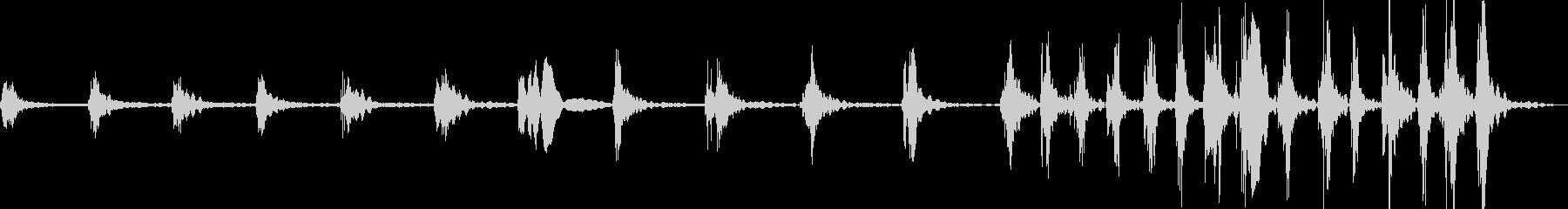 ひたひたと何かが近づく足音の未再生の波形