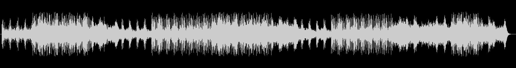 シンセサイザーによる緊張感のある曲の未再生の波形