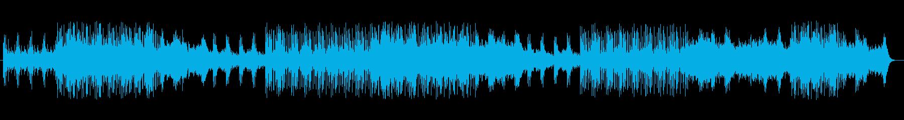 シンセサイザーによる緊張感のある曲の再生済みの波形