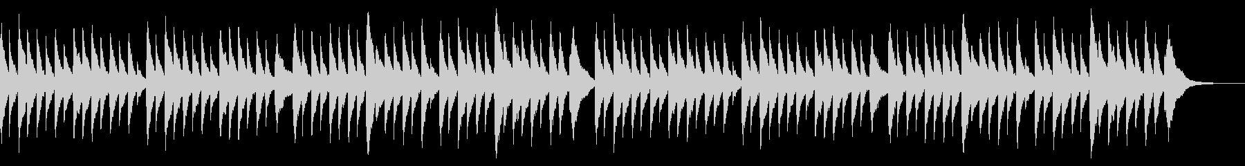 童謡オルゴール 春の小川 ×2回の未再生の波形