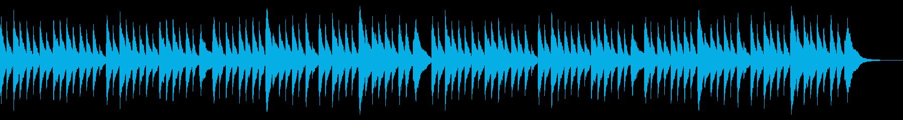童謡オルゴール 春の小川 ×2回の再生済みの波形