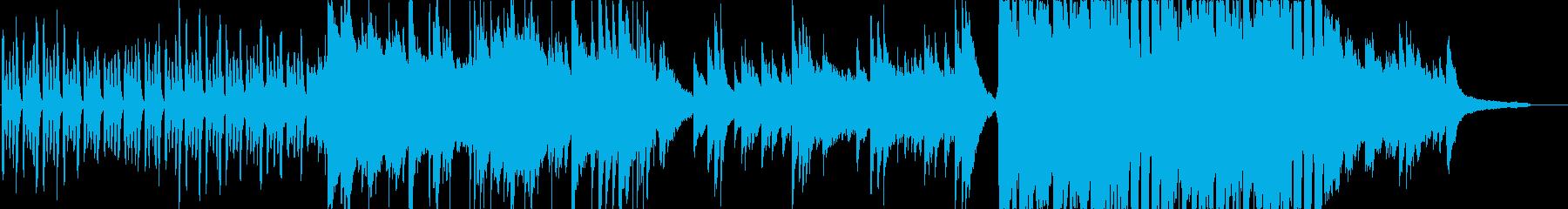 三拍子の少し切ない雰囲気の曲の再生済みの波形