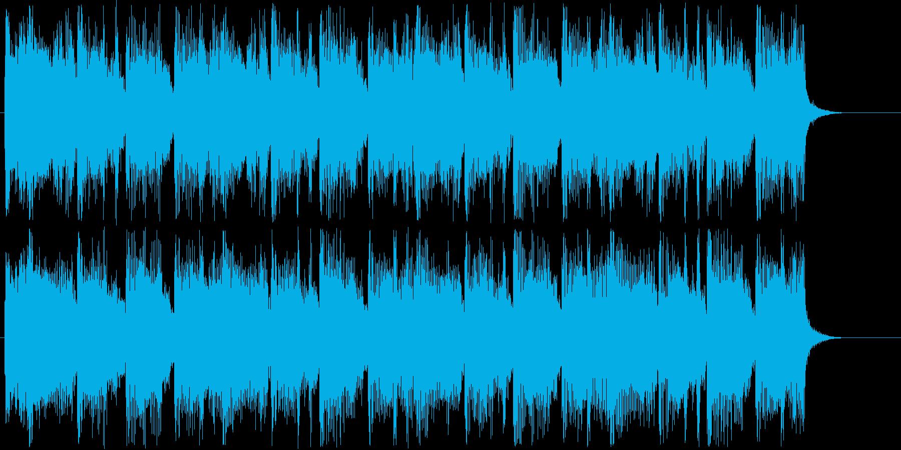 コミカルな雰囲気のトランペット曲の再生済みの波形