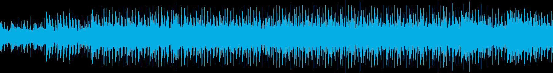 ピアノとマリンバの夏っぽいループ曲の再生済みの波形