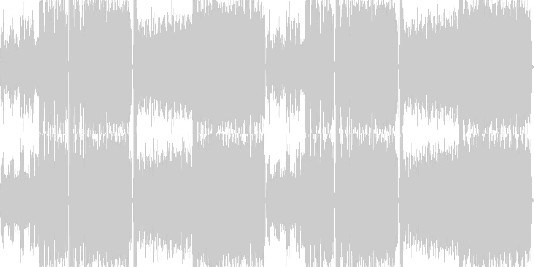 迫力と重圧感があるメタルバトル曲の未再生の波形