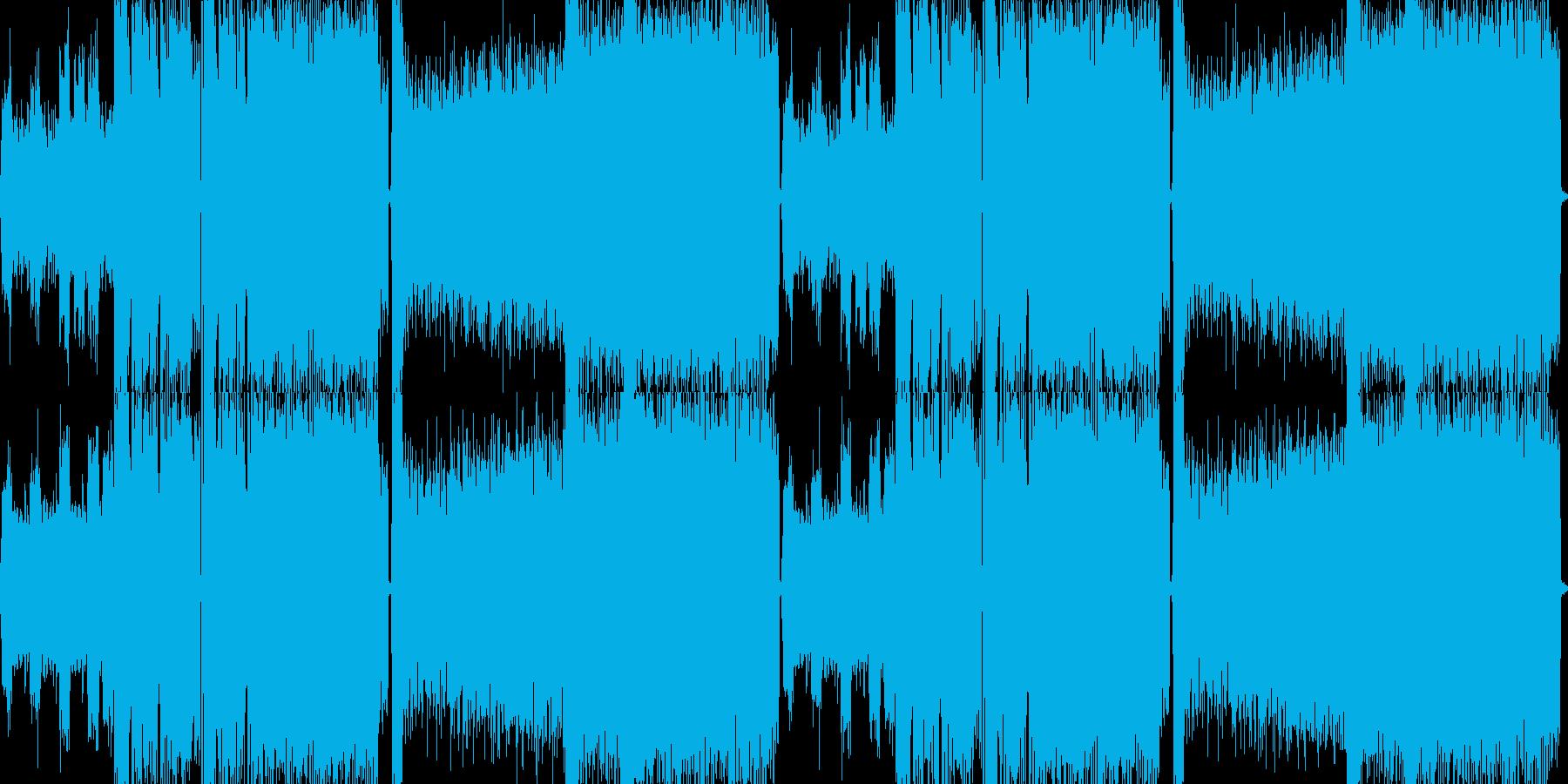 迫力と重圧感があるメタルバトル曲の再生済みの波形