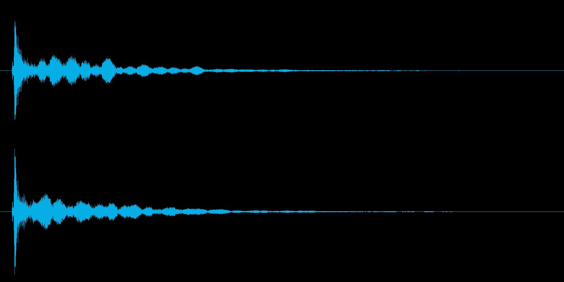 コッ/置く/光る/ボードゲームの再生済みの波形