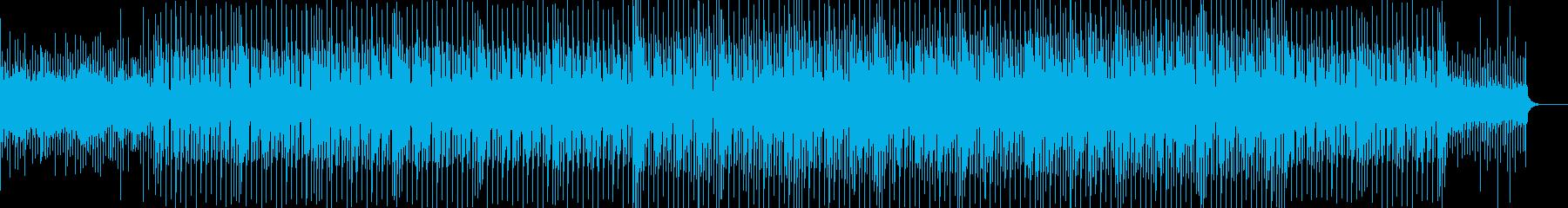 爽やかで明るく疾走感のあるBGMの再生済みの波形