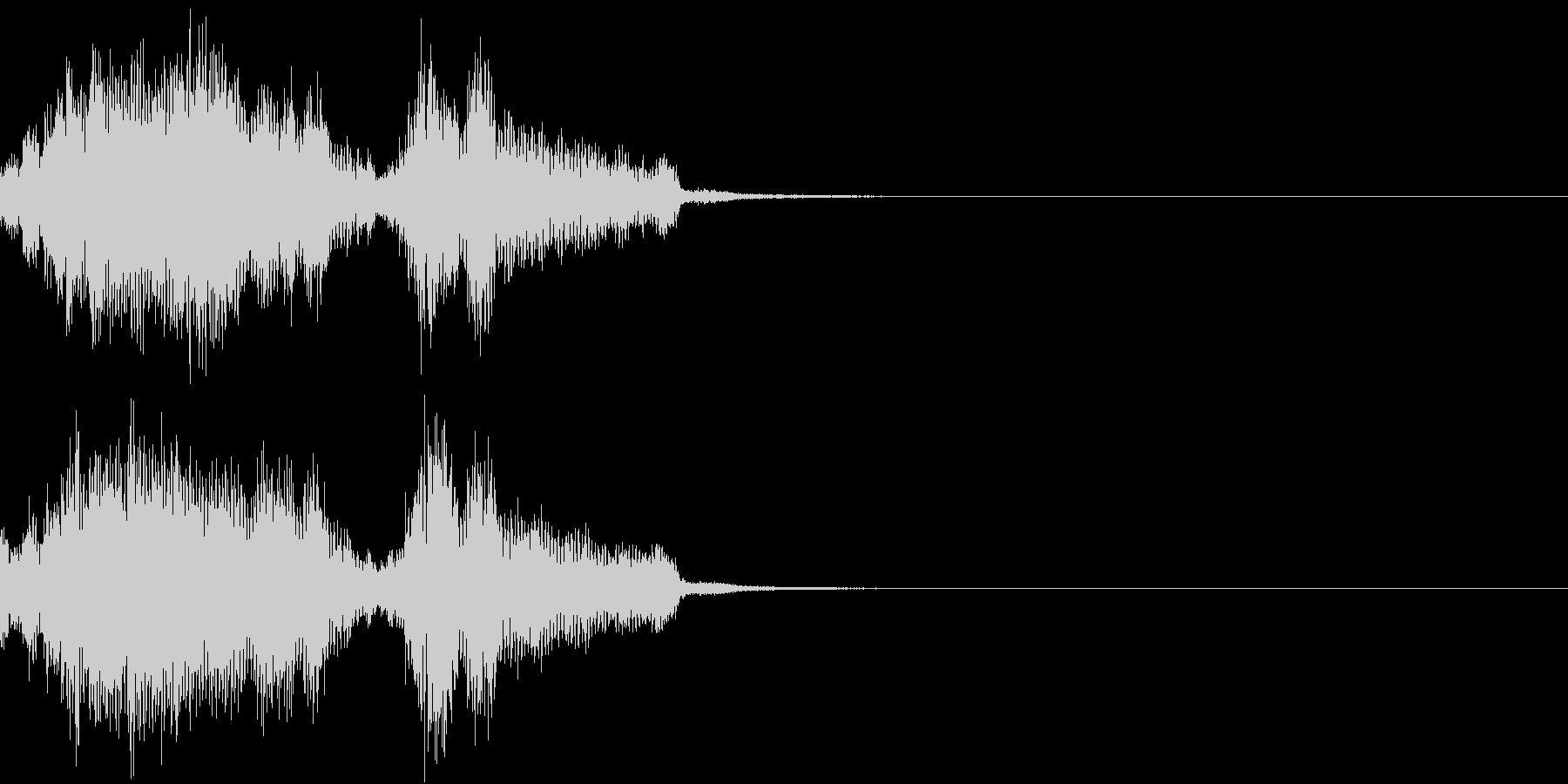 Monster 未知の生物の発する音声3の未再生の波形