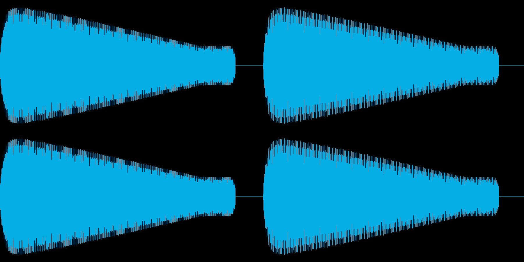 レトロゲーム風「ピンポン」の再生済みの波形