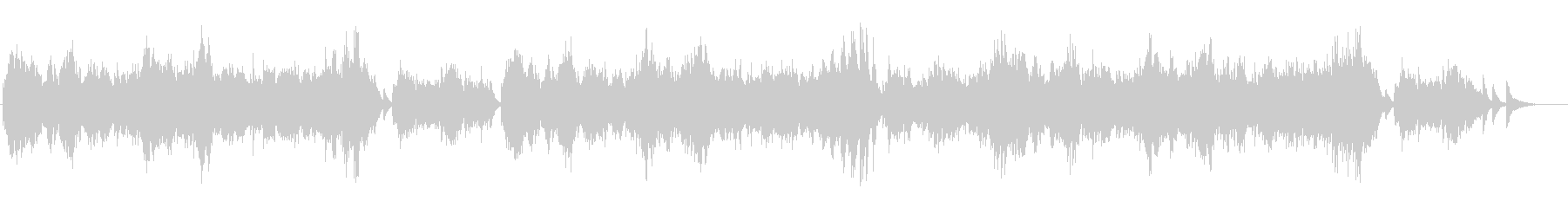 秋の愛の切ないセンチメンタルピアノソロの未再生の波形